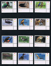 Tonga 2012 Birds Issues - OFFICIAL Overprinted Postage Stamp Issues