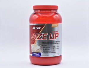 Met-Rx Xtreme Size Up 60g High Protein Powder, Vanilla, 3lbs, EXP: 05/2022