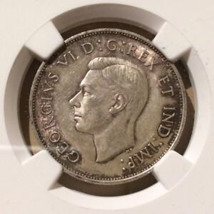 1940 Canada 50 Cents NGC AU 58 - Silver