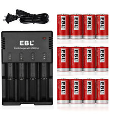 Lot EBL RCR123A 16340 Li-ion  Rechargeable Battery / AA AAA 16340 18650 Charger