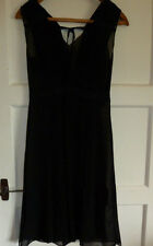 SM13) Ladies dress (needs slip underneath) sheer black Great Plains XS Black