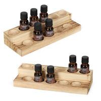 2 Wooden Essential Oils Bottle Rack Shelf Essential Display Storage Rack Stand