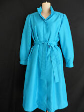 Forecaster Of Boston Trench Coat Raincoat Blue Aqua Size 5/6 Vintage