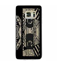 Coque Galaxy S7 EDGE cassette K7 tape geometrique noir transparente