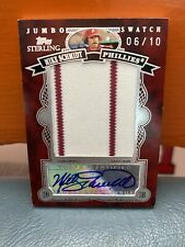 2007 Topps Sterling Jumbo Swatch Mike Schmidt Patch And Auto #'d 10