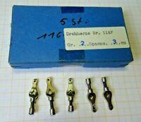 5 Neuwertige Drehherzen Größe 2 Spannweite 3 mm..nur 12 Euro...