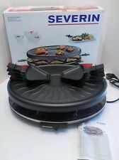 NEW Open Box SEVERIN Raclette Partygrill, 1100 W Includes 8 Mini-Pans, RG 2681