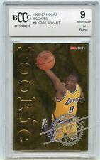 1996-97 Hoops Gold Rookies #3 Kobe Bryant Rookie Card BGS BCCG 9 Near Mint+