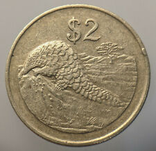 Zimbabwe 2 Dollars 1997 Brass Coin - Pangolin - Manidae - Scaly Anteater