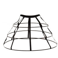 Triangular Crinoline Hoop Cage Skirt Pannier Bustle Petticoat Underskirt 2Colors