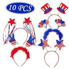 10PCS Patriotic Head Boppers Headband - Star Uncle Sam Hat Balloons- Fourth