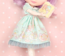 "Junie Moon Dollyware Dress Set Blue× ""Little Twin Stars Kiki & Lara"" for Blythe"