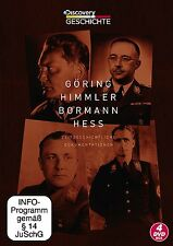 Cabezas des 3. Imperio GÖRING HIMMLER BORMANN HESS 4 Caja de DVD 2. Weltkrieg