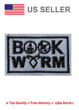 Book worm Iron On / Sew On Patches motif Hunger Games Divergent percy Embroidery