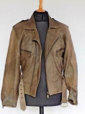 Men's Leather Bomber Biker Jacket