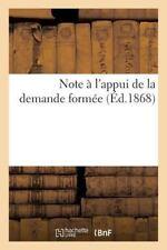 Sciences Sociales: Note a l'Appui de la Demande Formee by Sans Auteur (2014,...