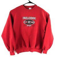 Men's Vintage Georgia Bulldogs 90s Red Crewneck Sweatshirt Made in USA Size L
