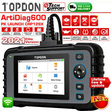 TOPDON AD600 Auto Scanner OBD2 ABS, SRS, BRT, DPF Iniettore TPMS EPB PK CRP129X