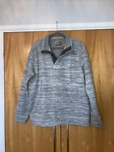M&S North Coast Button Neck Sweatshirt Top in Grey Size Extra Large