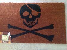 NEW Halloween Skull Crossbone Mat Coir Door Mat Indoor Outdoor