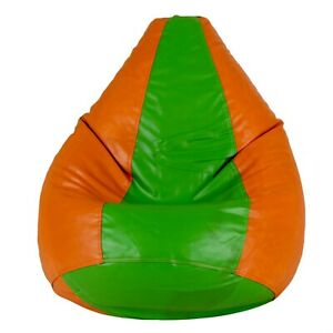 Bean bag Cover Leather Chair without Beans Orange green Luxuries Home Decor Gift