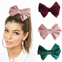 Fashion Velvet Bow Tie Hair Clips Women Sweet Big Bow Girls Hair Accessories