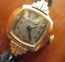 WORKING! Vintage Bulova Ladies Wristwatch 10K Rolled Gold Plate
