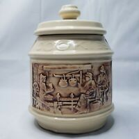 Vintage McCoy FRONTIER WESTERN COVERED WAGON CERAMIC COOKIE JAR RARE MADE IN USA