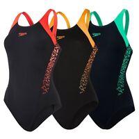 Speedo Womens Boom Splice Muscleback Swimsuit Swimming Costume UK Sizes 6-20