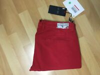 NWT Mens Armani Jeans P20CG Stretch Chino Jeans Red Slim W33 L33 H6.5 RRP£125