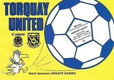 Football Programme>TORQUAY UNITED v NEWPORT COUNTY Sept 1983 FLC