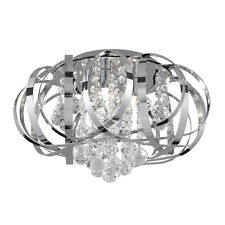 Searchlight 5973-3CC. Tiara/Crown Crystal 3-Light Ceiling Chandelier. Pendant