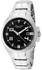 KENNETH COLE NY DRESS BLACK DIAL DATE STAINLESS STEEL MEN'S WATCH KC9072 NEW