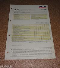 Inspektionsblatt Yamaha TDM 850 Type 3VD Year 1993