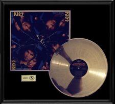 KISS CRAZY NIGHTS RARE GOLD RECORD PLATINUM DISC ALBUM LP FRAME