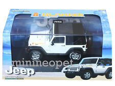 GREENLIGHT 86037 JEEP WRANGLER ISLANDER 1/43 DIECAST WITH DISPLAY CASE WHITE