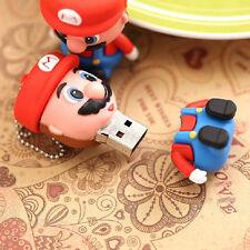 8GB Memory Stick Flash Drive USB 2.0 Bstar Cute Cartoon Mario Pen Drive Hot Sale