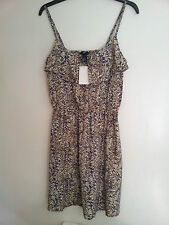 NWT H&M 2013 Summer Collection Patterned Ruffle Sleeves Dress Sz: US 8