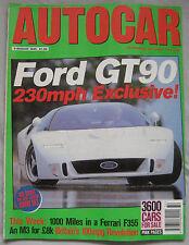 AUTOCAR 9/8/1995 featuring Ford GT90, BMW M3, Ferrari F355