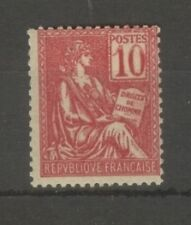 """FRANCE STAMP TIMBRE N°112 """" MOUCHON 10c VARIETE CHIFFRES RECTO-VERSO """" NEUFxx TB"""