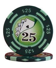 100pcs 14g Yin Yang Casino Table Clay Poker Chips $25