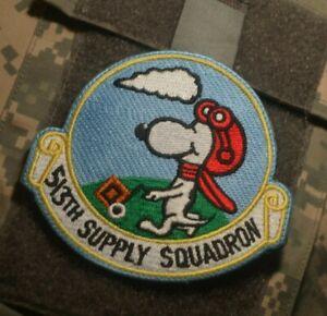 GB Mildenhall Royal Air Force Base Velkrö Snoopy Patch : USAF 513th de Durée Sqn
