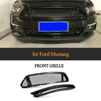 Carbon Grill Kühlergrills Mesh Grill Beleuchtung für Ford Mustang Coupe Cabrio