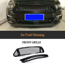 2PCS Front Bumper Grill Grille Factory Carbon Fiber For Ford Mustang 15-17 Refit