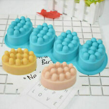 4 Cavity Massage Bar Silicone Mold 3D For Pudding Soap Jelly Mould Tray Durable