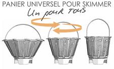 Universal skimmer basket