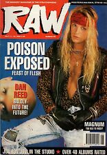 Bret Michaels of Poison on RAW Cover 1990 Steve Vai Iron Maiden Europe Aerosmith