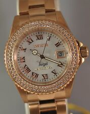 New Womens Invicta Cruiseline Swiss Quartz White MOP Dial RoseTone Steel Watch