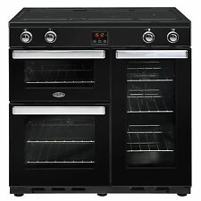 Belling Cookcentre 90Ei Black 90cm Electric Induction Range Cooker 444444080
