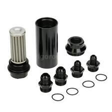 44mm Car Fuel Filter Inlet Outlet Flow Filter + AN6 AN8 Adaptor Universal N2G6